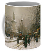 Place De La Republique In Winter Coffee Mug
