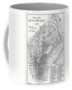 Plan Of The City Of New York Coffee Mug
