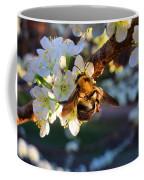 Plum Full Of Bees Coffee Mug