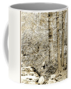 Pocono Mountain Stream, Pennsylvania, Digital Art Coffee Mug