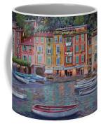 Portofino Al Crepuscolo Coffee Mug by Guido Borelli