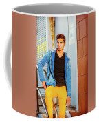 Portrait Of Young Man In New York Coffee Mug