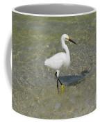 Posing White Egret Bird Coffee Mug