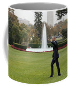 President Obama - White House South Lawn #1 Coffee Mug
