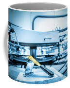 Print Screening Metal Machine. Coffee Mug