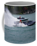 Racing Hydroplanes Boats On The Detroit River For Gold Cup Coffee Mug