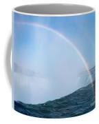 Rainbow Over Niagara Falls Horseshoe Waterfall Coffee Mug
