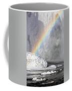 Rainbow Over Skogarfoss Waterfall Coffee Mug