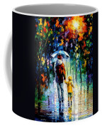 Rainy Walk With Daddy Coffee Mug