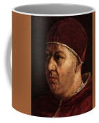 Raphael Pope Leo X With Cardinals Giulio De  Medici And Luigi De  Rossi  Coffee Mug
