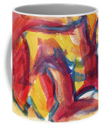 Red Abstract Painting Coffee Mug