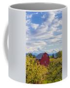Red Barn And Mt Hood Coffee Mug