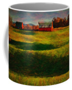 Rolling Hills And Red Barn, Rock Island, Tennessee Coffee Mug