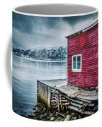 Red Boathouse In Norris Point, Newfoundland Coffee Mug