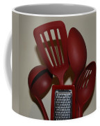 Red Kitchen Utencils Coffee Mug