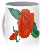 Red Rose, Oil Painting Coffee Mug