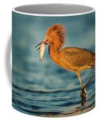 Reddish Egret With Fish Coffee Mug