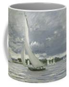 Regatta At Argenteuil Coffee Mug by Claude Monet