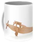 Retro Wooden Airplane Isolated On White Background Coffee Mug