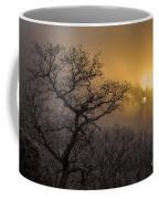 Rime Ice And Fog At Sunset - Telephoto Coffee Mug
