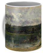 River Scene With Ducks Coffee Mug