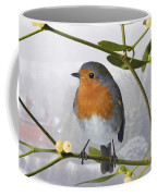 Robin On Mistletoe Coffee Mug
