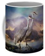 Rocky Mountain Sandhill Cranes Coffee Mug