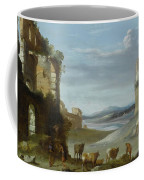 Roman Landscape With Ruins Coffee Mug