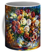 Roses And Wine Coffee Mug