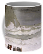 Rough Sea At Etretat Coffee Mug