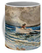 Rowing At Prouts Neck Coffee Mug by Winslow Homer