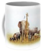 Safari Animals In Africa Composite Coffee Mug