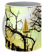 Sailboat Golden Sunset Coffee Mug