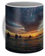 Sailing Boats At Sunset Boracay Tropical Island Philippines Coffee Mug