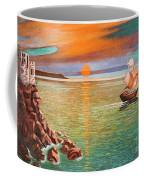 Sailing Ship And Castle Coffee Mug