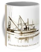 Salvage Barge, Delaware River, Philadelphia, C.1900 Coffee Mug