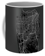 San Francisco California Usa Dark Map Coffee Mug