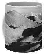 Monochrome Sand Dunes And Rocky Mountains Panorama Coffee Mug
