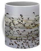 Sand Pipers In Flight Coffee Mug