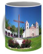 Santa Barbara Mission And Cross Coffee Mug