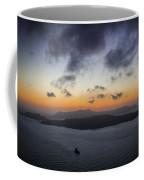 Santorini Caldera Sunset Coffee Mug