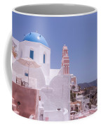 Santorini Oia Blue Domed Church Coffee Mug