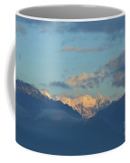 Scenic Ladscape Of Northern Italy Of The Snow Capped Alps  Coffee Mug