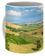 Scenic Tuscany Landscape At Sunset, Val D'orcia, Italy Coffee Mug
