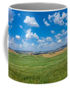 Scenic Tuscany Landscape With Rolling Hills In Val D'orcia, Ital Coffee Mug