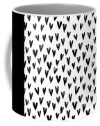 Seamless Pattern With Hand Drawn Hearts.  Coffee Mug