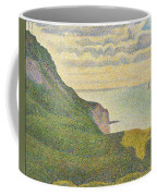 Seascape At Port-en-bessin Normandy Coffee Mug