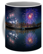 Seattle Skyline And Fireworks Coffee Mug