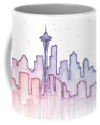 Seattle Skyline Watercolor Coffee Mug