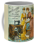 Sewing Machine Ad, C1880 Coffee Mug